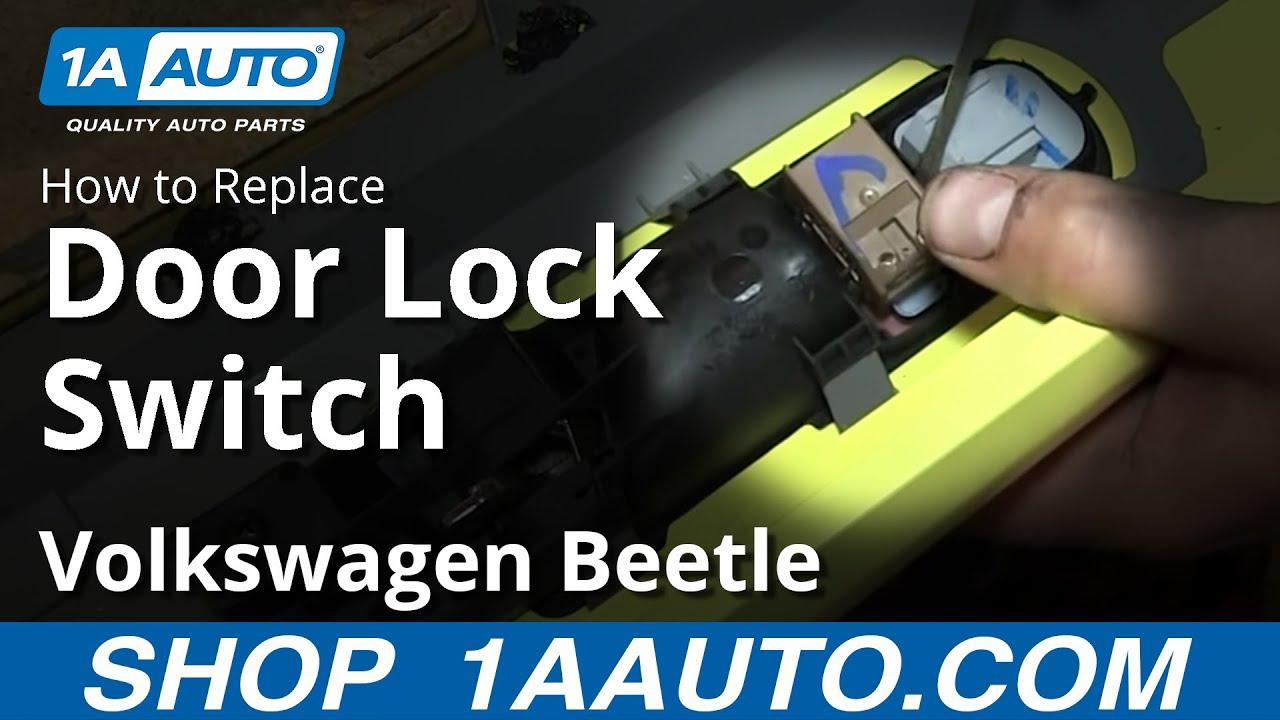 How To Install Replace Door Lock Switch 2001 VW Volkswagen Beetle - YouTube