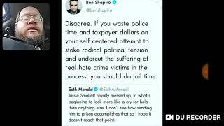 Ben Shapiro Vs Seth Mandel On Jussie Smollett - DTMP Drama Alert