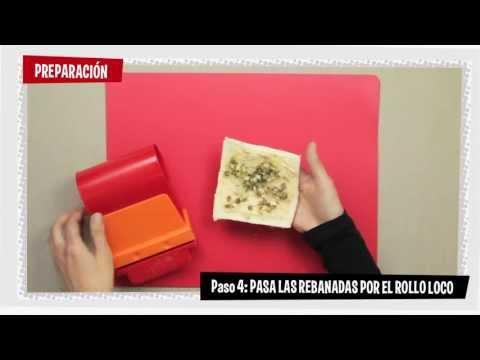 Receta con Rollo Loco de La Piara - Canapés de paté de salmón con alcaparras y cebolla