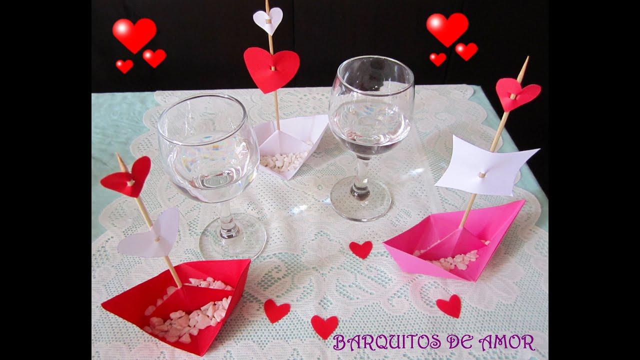 Manualidades barquitos de amor youtube - Manualidades con papel de colores ...