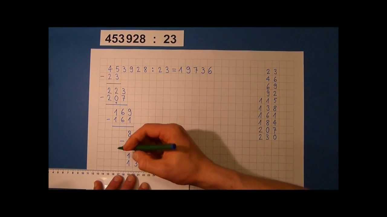 Tutorial Schriftliche Division Mit Zweistelligen Zahlen