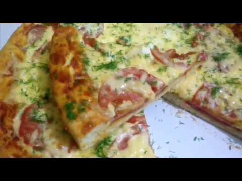Домашняя колбасная пицца!!!(идеальное тесто для пиццы!!!)