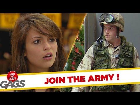 Join The Army Prank - Toborzó átverés