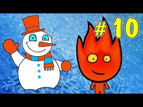 ПРИКЛЮЧЕНИЯ ОГОНЬ и ВОДА в ледяном храме #1. Развлекательное видео для детей на Игрули TV