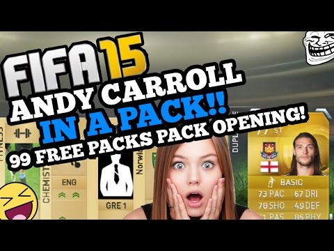 OMFG ANDY CARROLL IN A PACK!! 99 FREE PACKS LIVE PACK OPENING!!