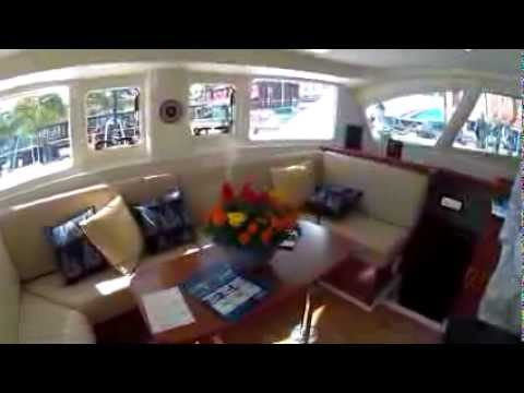 Leopard 39 Catamaran toured at Annapolis Spring Show 2012 by ABKvideo