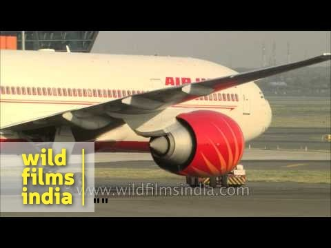 Air India, Indigo and Jet Boeing planes take off from New Delhi airport