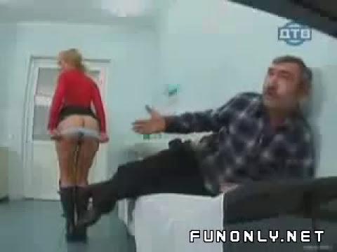 enfermera bromas traseros desnudos