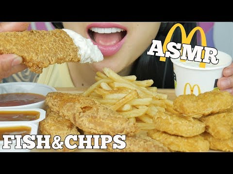 ASMR *NEW MCDONALDS FISH & CHIPS + CHICKEN NUGGETS (CRUNCHY EATING SOUNDS) | SAS-ASMR