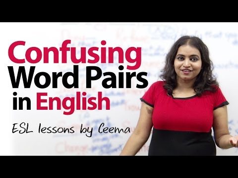 Confusing Word Pairs In English - Free Spoken English Lesson video