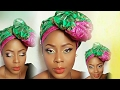Nigeria Traditional wedding Asoebi makeup tutorial and how to tie bow Gele