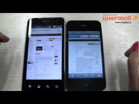 LG Optimus 2X - Видеообзор. сравнение с HTC Desire и iPhone 4