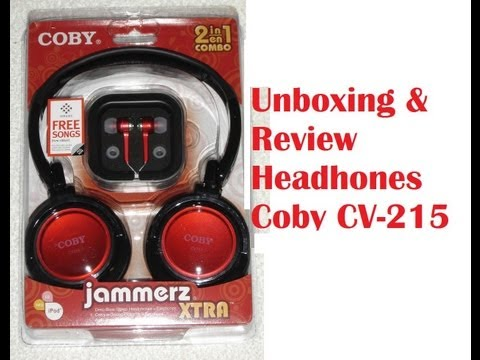 Coby Headphones CV-215 Unboxing/Review (Espanol)