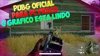 PUBG OFICIAL PARA PC FRACO - O GAME ESTÁ LINDO DE MAIS CONFIRA!!!