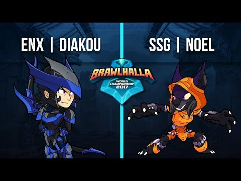 Diakou (Diana) v SSG | NoeL (Asuri) - 1v1 Top 32 - Brawlhalla World Championship 2017