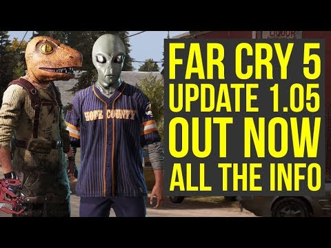 Far Cry 5 Update 1.05 OUT NOW - Adds New Weapon, Masks, Outfits &  More! (Far Cry 5 DLC)