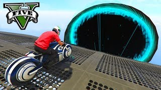 GTA V Online: A RAMPA no TÚNEL COM MOTO TRON!!! ÉPICO