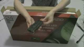 "01. Vizio LED 24"" TV E421-A1 - Unboxing"