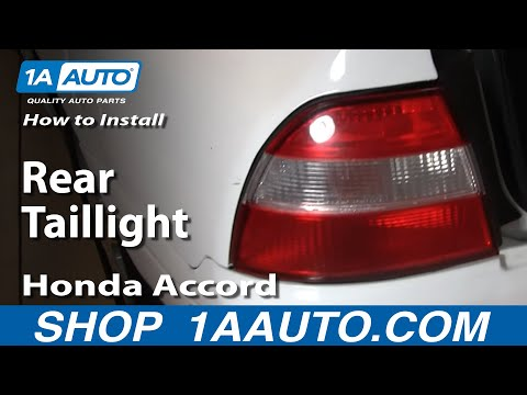 How To Install Replace Rear Taillight Honda Accord 94-97 1AAuto.com
