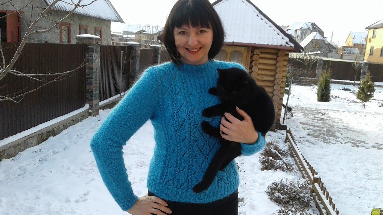 Метод непрерывного вязания спицами свитер с аранами