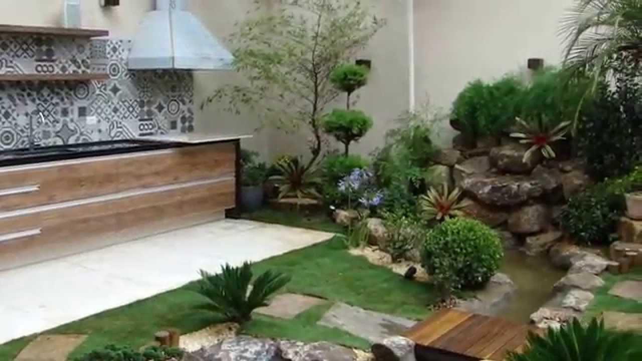 mini jardim residencial:JARDIM COM LAGO E CASCATA EM RESIDENCIA EM SÃO PAULO – YouTube