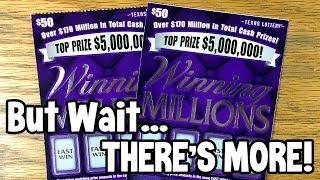 NEW TICKET WINS! 💰 2X $50 Winning Millions + ...? ✦ TEXAS LOTTERY Scratch Off Tickets