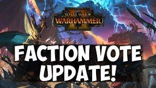 UPDATE!! Total War: Warhammer 2 - Faction Vote Update - Dark Elves vs High Elves