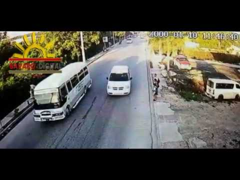 Video Capta accidente donde niño de 7 años pierde la vida en Veron