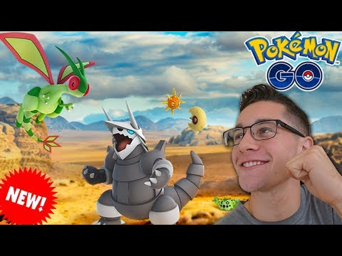 NEW GEN 3 POKÉMON ARE HERE! We Got FLYGON, AGGRON & More in Pokémon Go!
