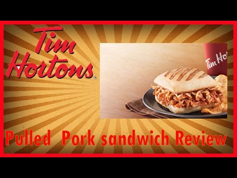 """♥""""New"""" Tim Horton New Pulled Pork Sandwich Review♥-Feb 15th 2016"""
