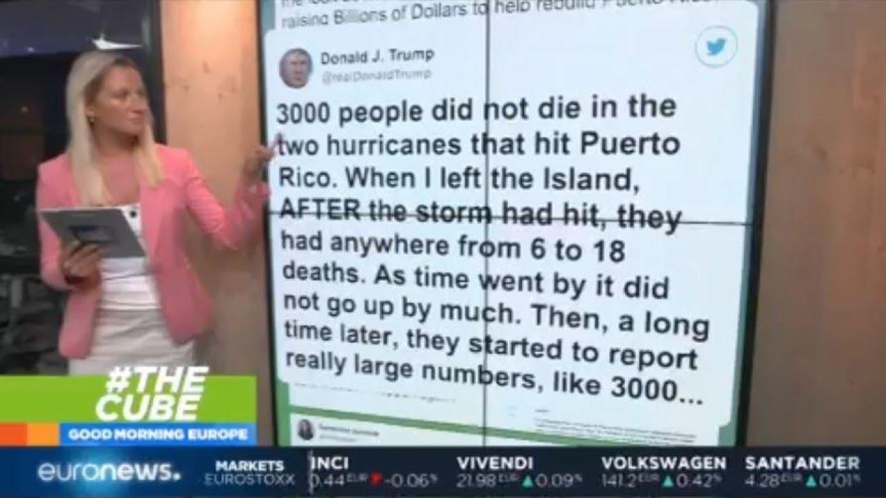#TheCube | Trump disputes Hurricane Maria death toll in Puerto Rico