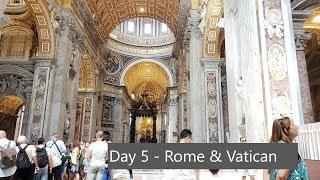 Du Lịch Châu Âu - Ngày 5 [ Hành Trình Từ Rome Đến Vatican- Florence ] Review Khách Sạn Nhà Hàng ở Ý