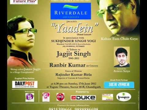 (ad 94.3 My Fm) Yaadein Ghazal Concert A Tribute To The Legand Jagjit Singh Ji.....by Ranbir Kumar video