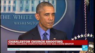 Charleston church shooting - Barack Obama: 'I've had to make statements like this too many times'