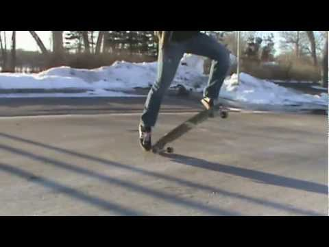 Fakie Tre Flip on a Longboard - (Superglider)
