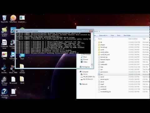 Посмотреть ролик - How to Make Minecraft 1.5.1 Bukkit Server Setup Tutorial