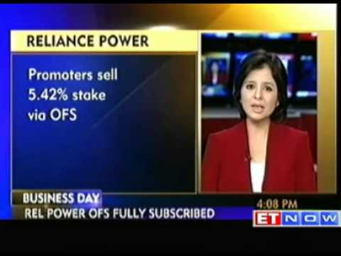 Reliance Power stake sale of 5.42% fully subscribed.
