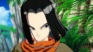 Dragon Ball FighterZ: Android 17s Special Quotes Intro & outro with Vegeta & Piccolo