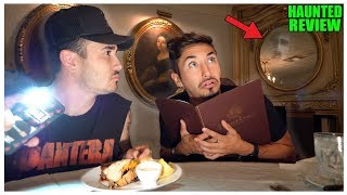 Eating At The Most HAUNTED Reviewed Restaurant (TERRIFYING)