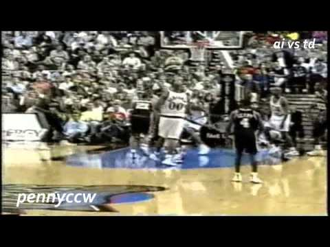 NBA Greatest Duels: Allen Iverson vs. Tim Duncan (1998) *Rare Game *ROY vs ROY