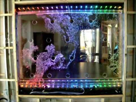 Dancing Bubble Wall Waterfall Indoor Water Feature Youtube