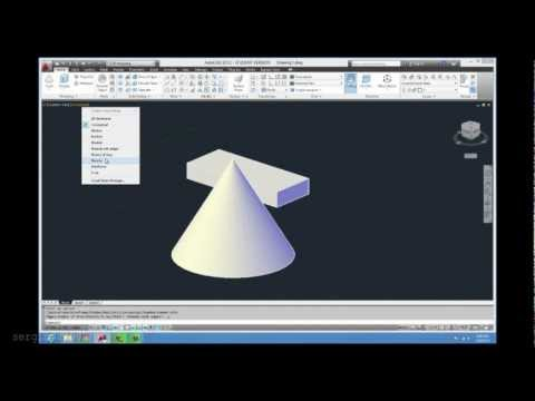Como cambiar a modo 3d en AutoCAD y dibujar en tres dimensiones. facil y rapido.