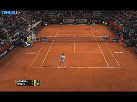 Roger Federer Rome 2015 Hot Shot vs. Stan Wawrinka