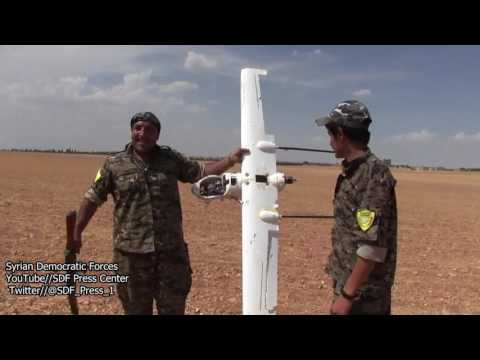 Syrian democratic forces fell down ISIL Military drone