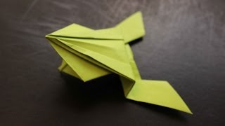 How to make a cool origami jumping frog.
