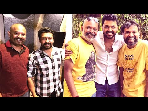 'karthi and Surya's sings together first time, in venkat prabu's party