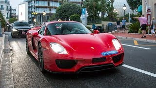 Supercars in Monaco August 2018 VOL  1 - Veyron, Chiron, Diablo SV, 918 Spyder and more!!
