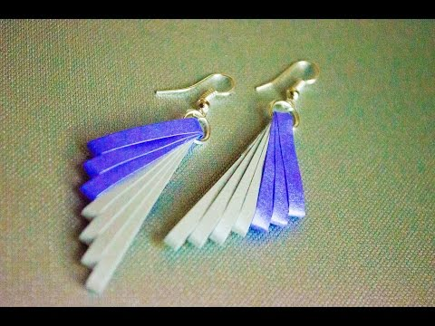 Quilling Paper Earrings Making Video Quilling Paper Earrings Latest