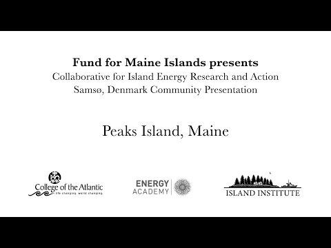 CIERA Visits Samsø: Peaks Island Community Presentation