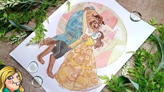 BEAUTY AND THE BEAST Watercolour Painting